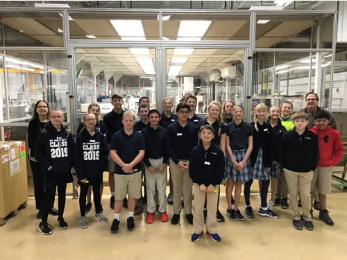 Rogan Corporation Celebrates Manufacturing by Inviting St. Norbert School Students to Learn About Injection Molding and Manufacturing